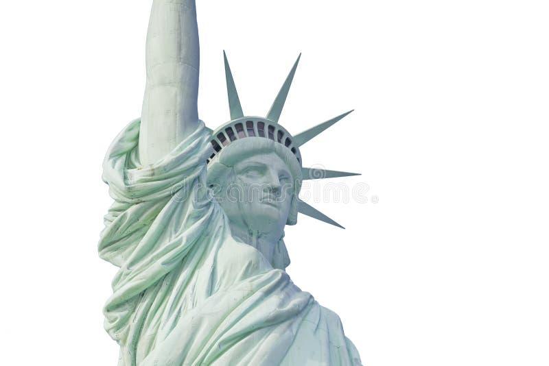 статуя изолированная городом вольности новая york стоковые фотографии rf