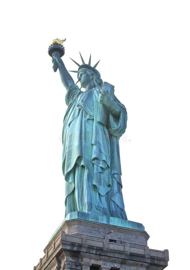 статуя изолированная городом вольности новая york стоковая фотография