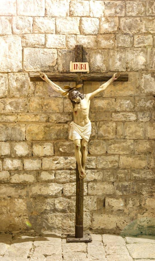 Статуя Иисуса Христоса Иисус Назарета стоковое изображение rf