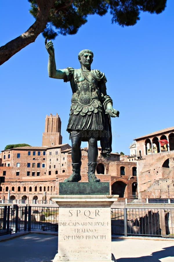 Статуя императора Augustus (Рим) стоковое фото rf
