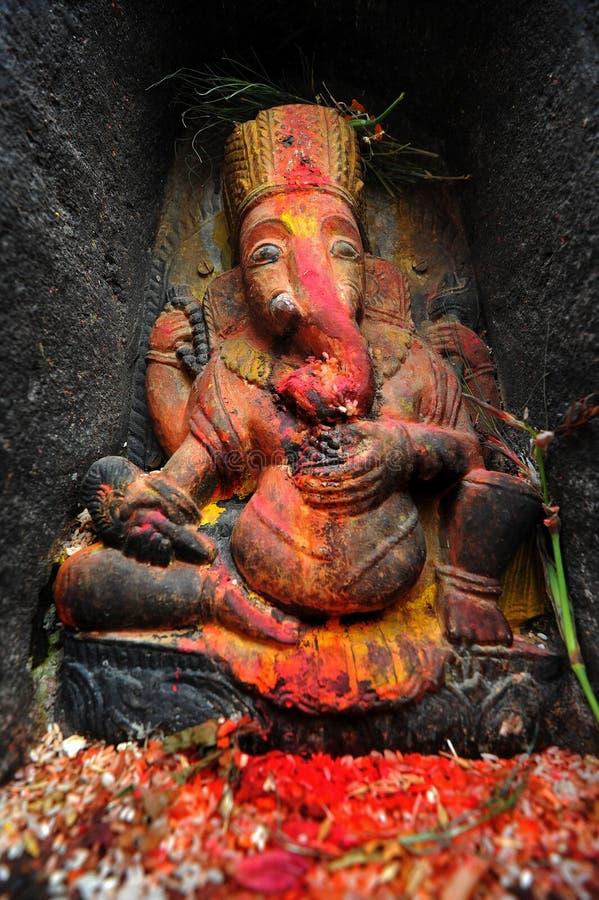 Статуя индусского лорда Ganesha бога слона стоковая фотография