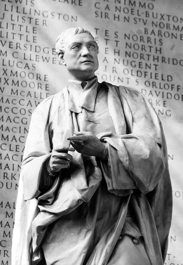 Статуя Исаак Ньютона, коллежа троицы, Кембриджа стоковое фото