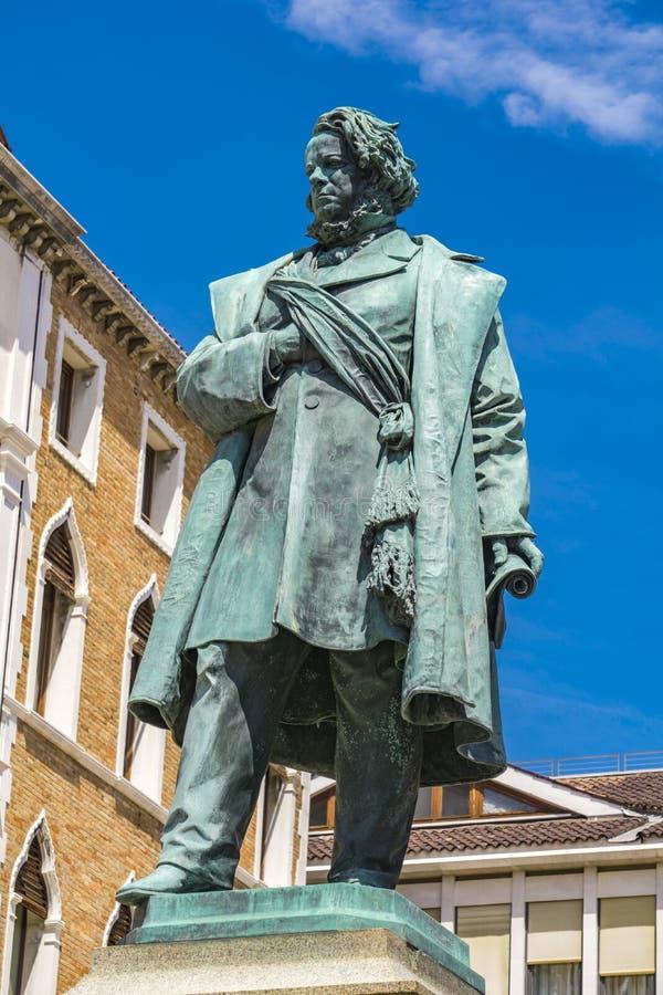 Статуя итальянского патриота Даниеле Манина, 1875 год, Луиджи Борро, Венеция, Италия стоковые изображения