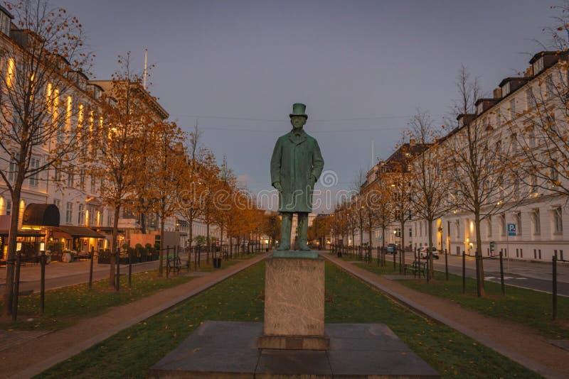 Статуя Карл Frederik Tietgen стоковое фото