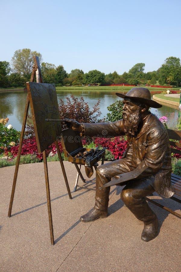 Статуя картины Оскар-Клода Monet стоковые фотографии rf