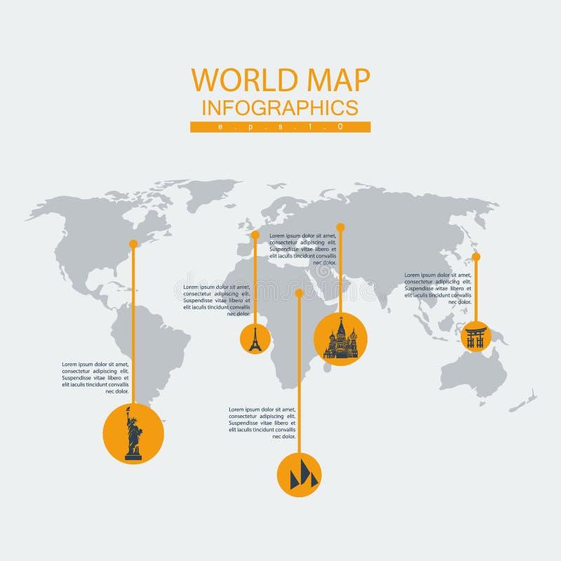 Статуя карты мира вектора бесплатная иллюстрация
