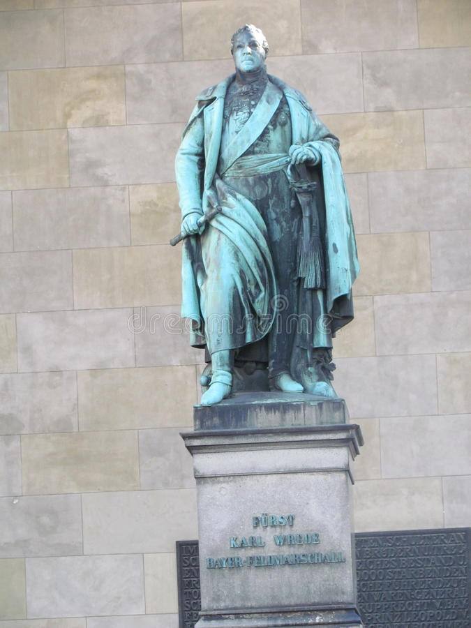 Статуя Карл Wrede стоковое фото