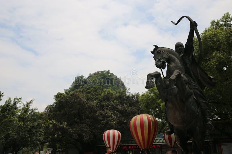 Статуя китайского ратника стоковые изображения