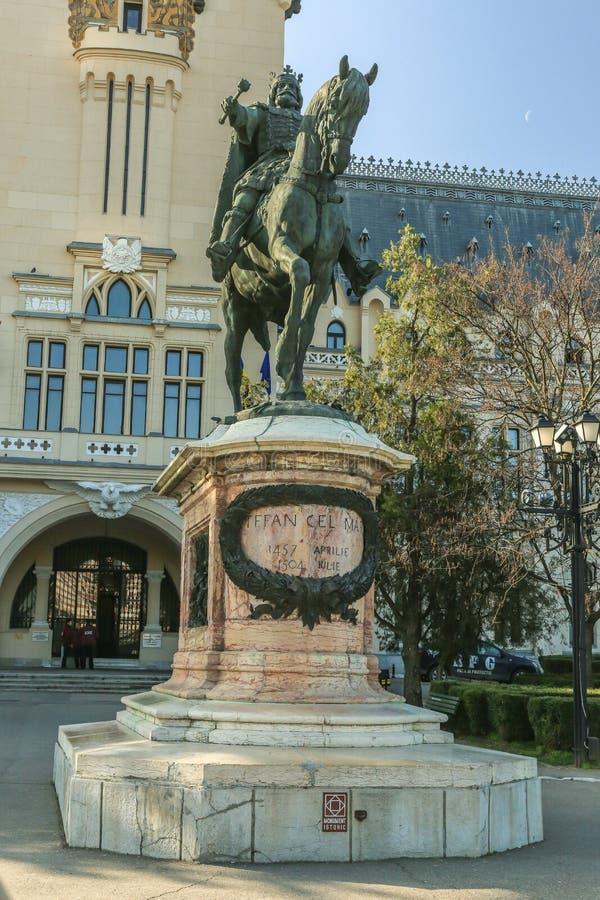 Статуя конематки Stefan cel в Iasi, Румынии стоковая фотография rf