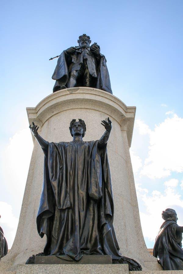Статуя короля Эдвард VII, северное Tce, Аделаида, южная Австралия, Австралия стоковое фото