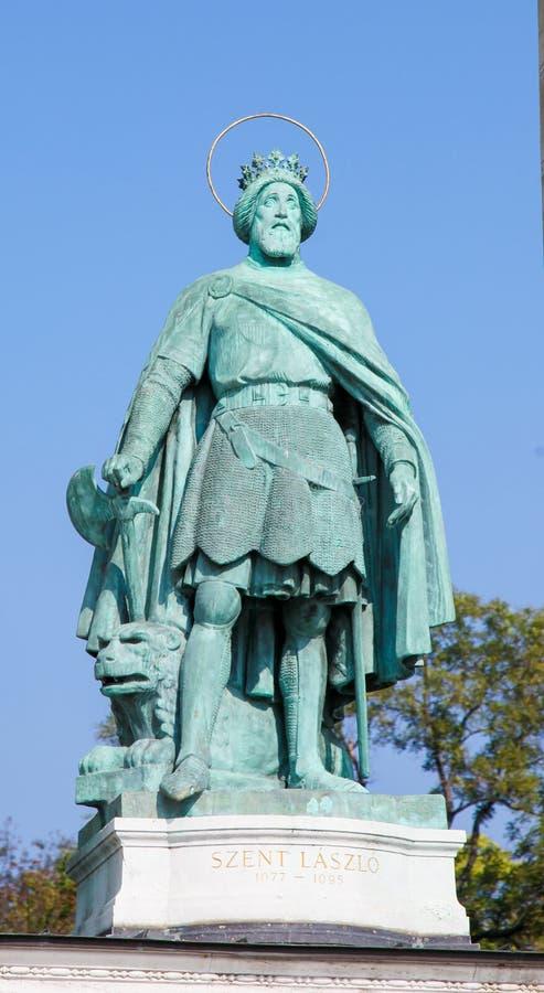 Статуя короля Владислава Я в Будапеште, Венгрии стоковые фото