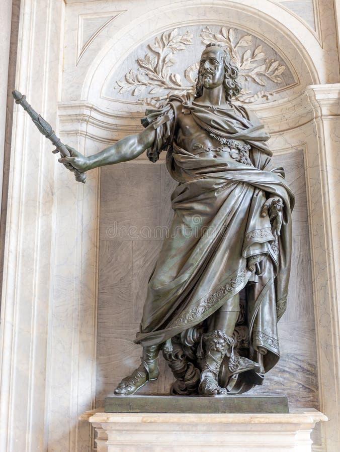Статуя короля Филиппа IV из Испании Bernini в базилике Santa Maria Maggiore, Риме стоковое изображение rf