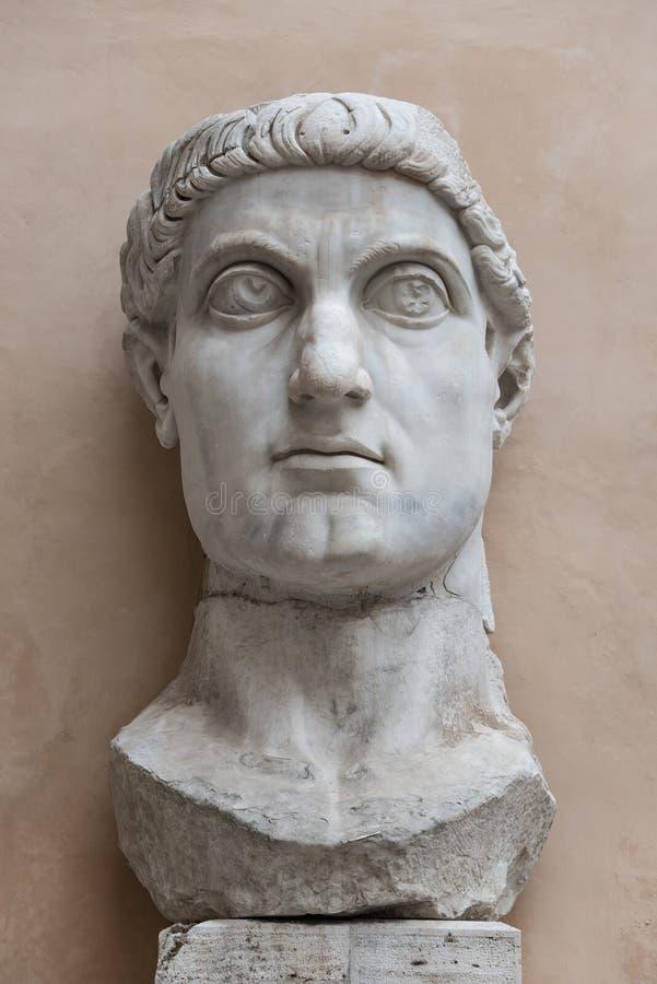 Статуя колосса Константина большой в Риме, Италии стоковое фото rf