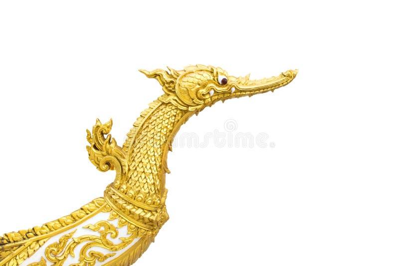 Статуя лебедя на белой предпосылке с путем выравнивается стоковая фотография