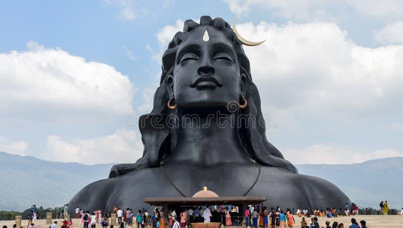 Статуя лорда Shiva стоковая фотография rf