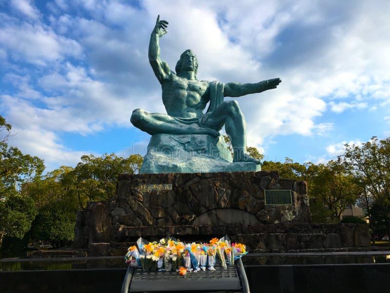 Статуя мира в Нагасаки стоковая фотография