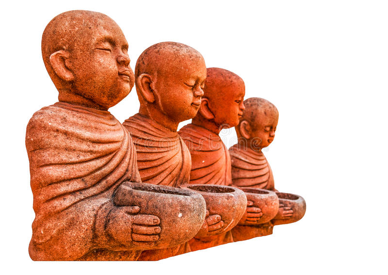 Статуя монаха стоковые изображения rf