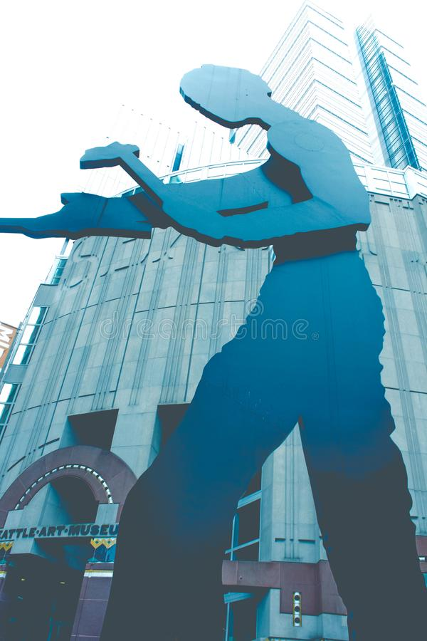 Статуя музея изобразительных искусств Сиэтл стоковое фото rf