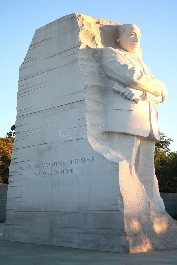 Статуя младшего Мартин Лютер Кинга на мемориале стоковое изображение rf