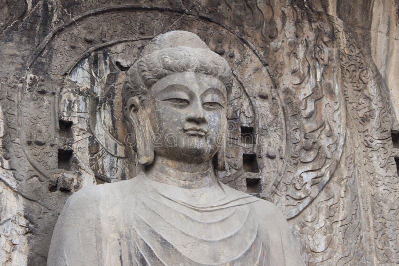 Статуя на гротах Longmen, Лоян Budha, Хэнань, Китай стоковая фотография rf