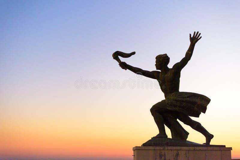 Статуя на холме Gellert стоковые изображения rf