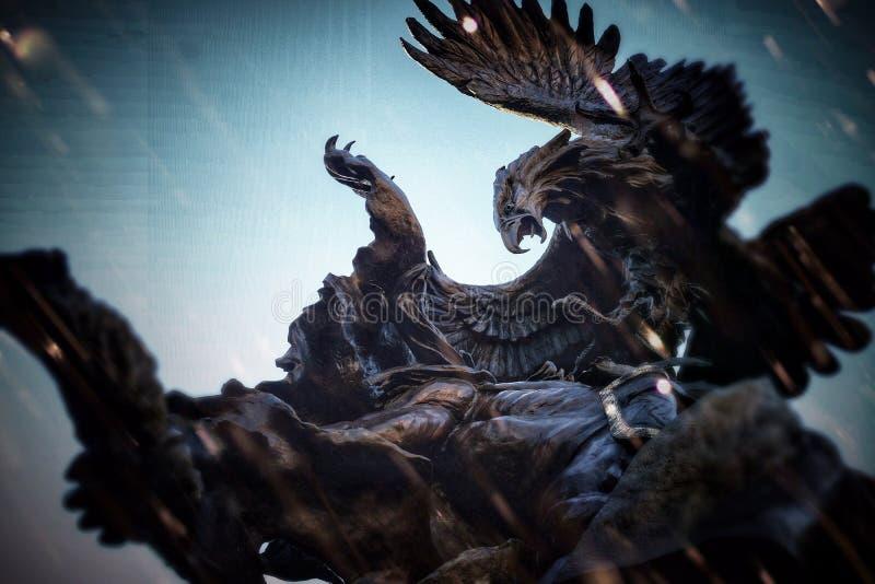 Статуя орла стоковое изображение rf