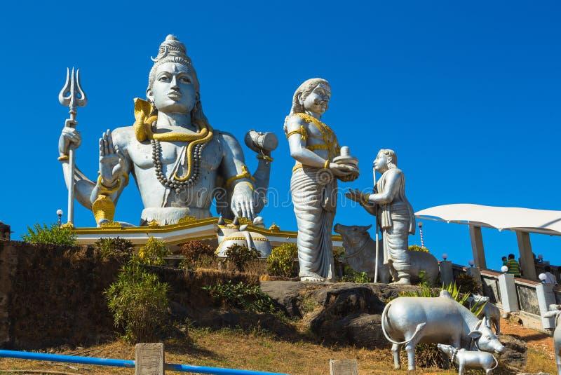 Статуя лорда Shiva была построена на Murudeshwar стоковые фото