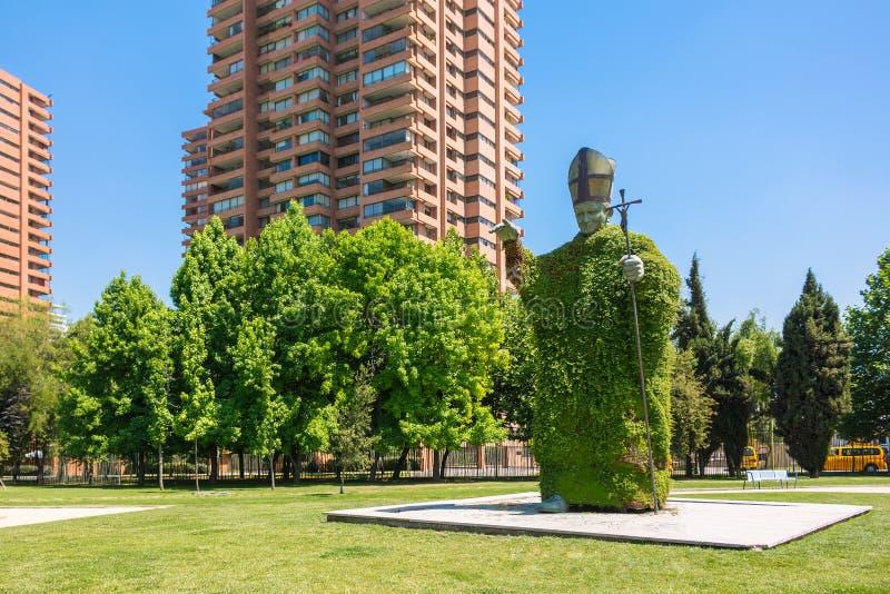 Статуя Папы Иоанна Павел II в Сантьяго, Чили стоковая фотография