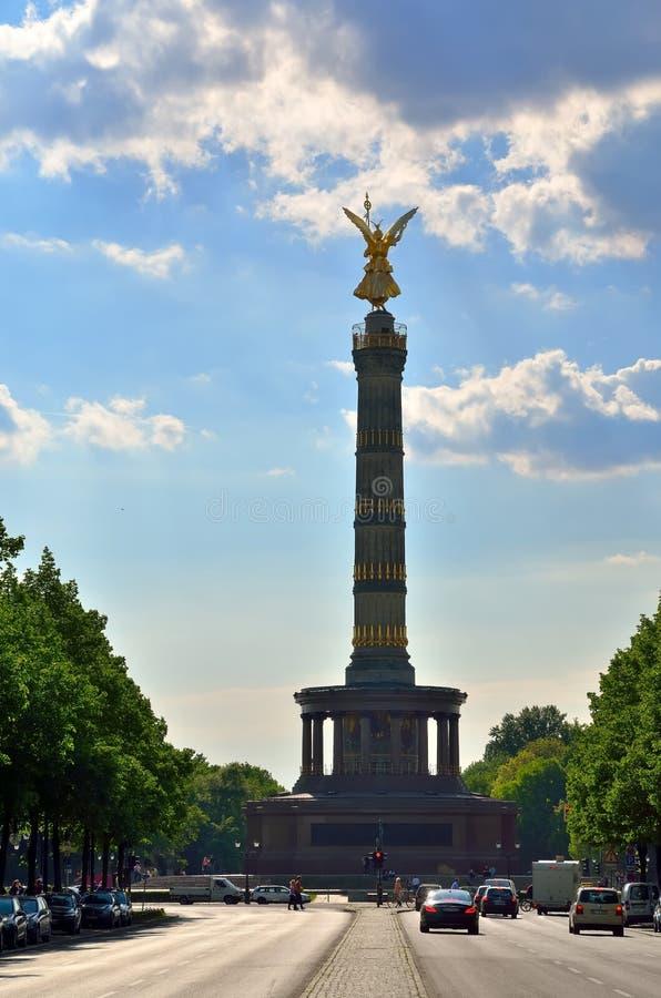 Статуя победы в Берлине, Германии стоковое фото
