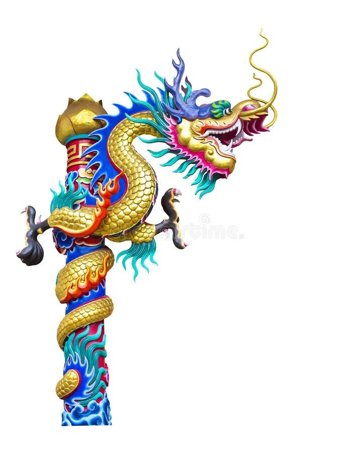 Download Статуя дракона изолированная на белизне Стоковое Изображение - изображение насчитывающей художничества, востоковедно: 41652403