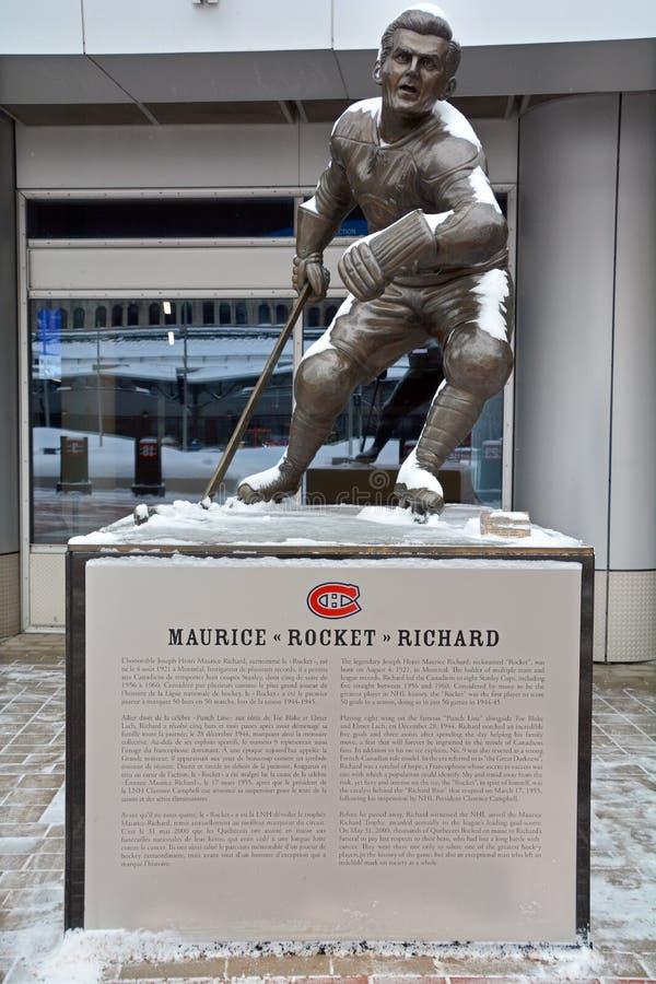 Статуя ` Ричард Ракеты ` Мориса, стоковое изображение