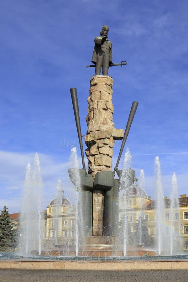 статуя Румынии napoca iancu cluj avram стоковая фотография rf