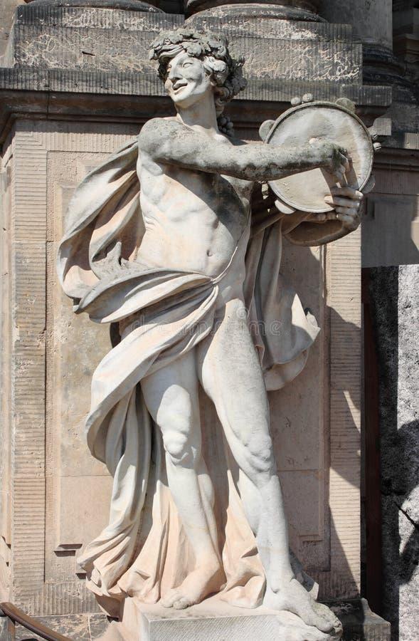 Статуя сатира стоковые изображения