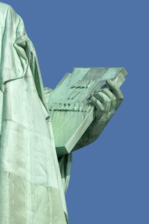 Статуя свободы держа планшет стоковые изображения