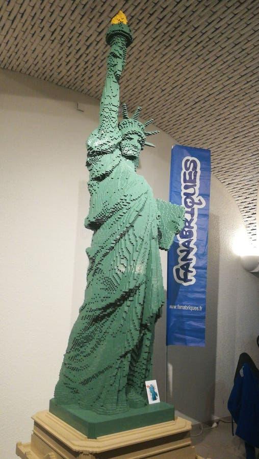 Статуя свободы LEGO стоковые изображения rf