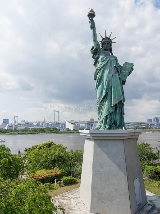 Статуя свободы, Odaiba, Токио, Япония стоковые изображения rf