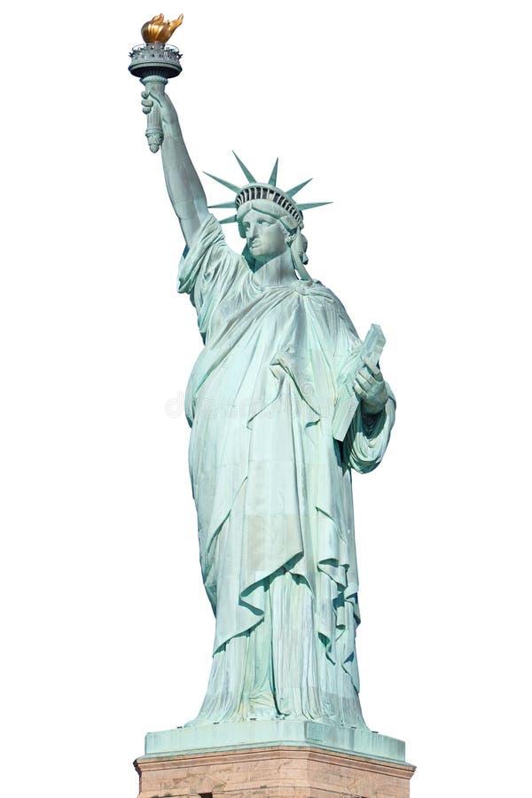 Статуя свободы в Нью-Йорке изолировала, путь клиппирования стоковые изображения rf