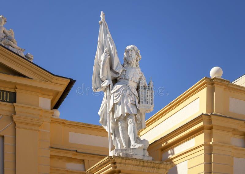 Статуя Святого Leopold, аббатства Melk, Нижней Австрии стоковая фотография