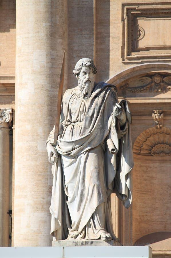 Статуя святой Паыля апостол стоковое фото