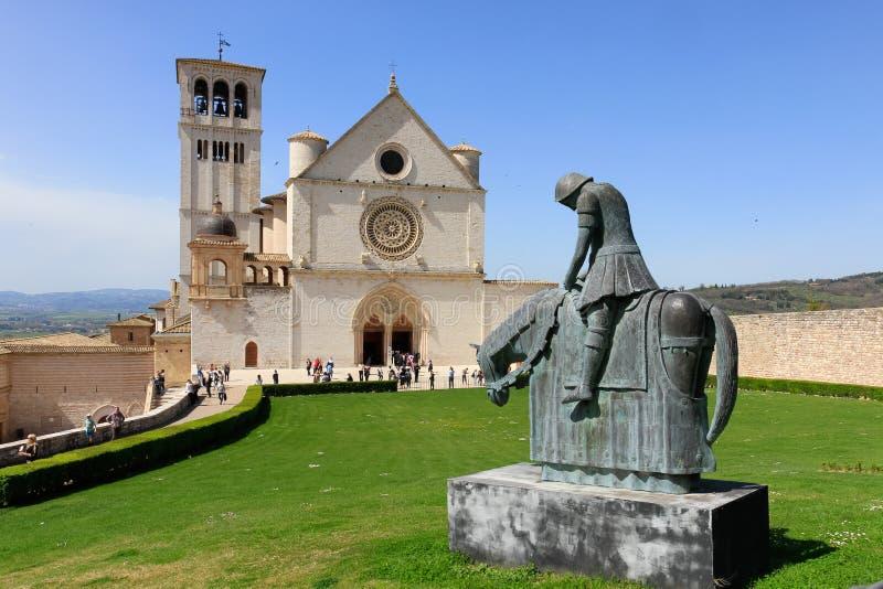Статуя Св.а Франциск Св. Франциск Assisi стоковое изображение
