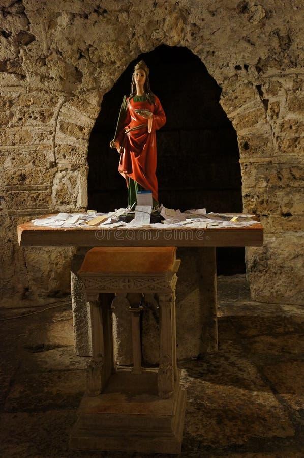 Статуя Сент-Люсия с ей глаза стоковые фотографии rf