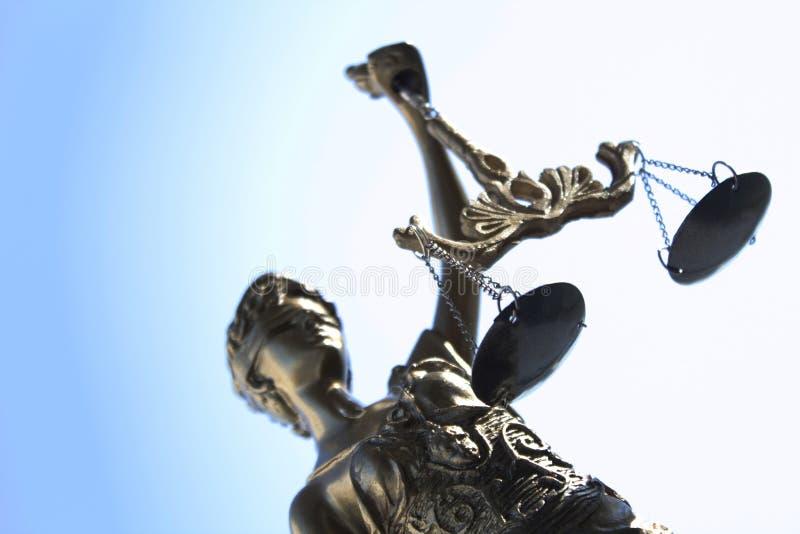 Статуя символа правосудия, законного изображения концепции закона стоковое фото