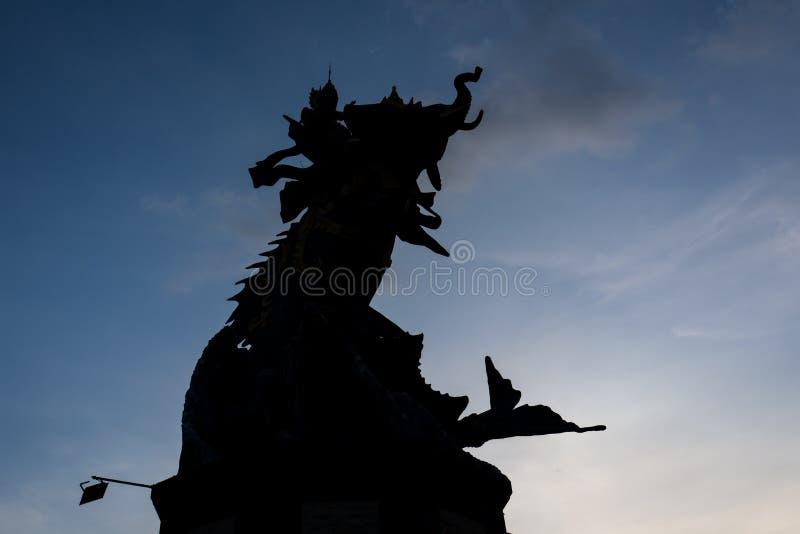 Статуя слона на пляже отголоска в Canggu, Бали стоковое фото rf