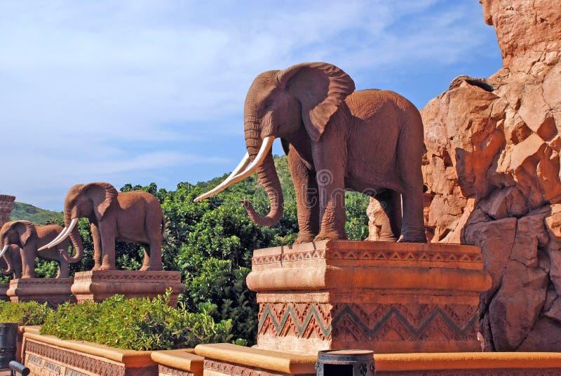 Статуя слонов стоковая фотография