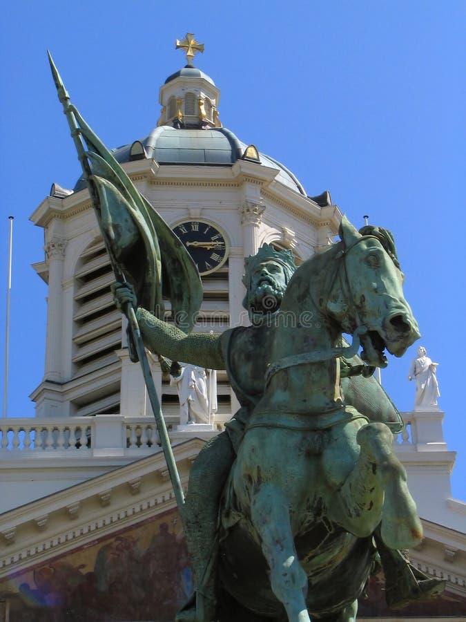 статуя соотечественника героя brussels стоковое изображение