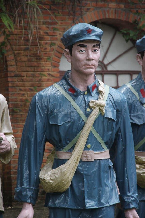 Статуя солдата Красной Армии в ¼ Œshenzhen Parkï Красной Армии, фарфоре стоковое изображение