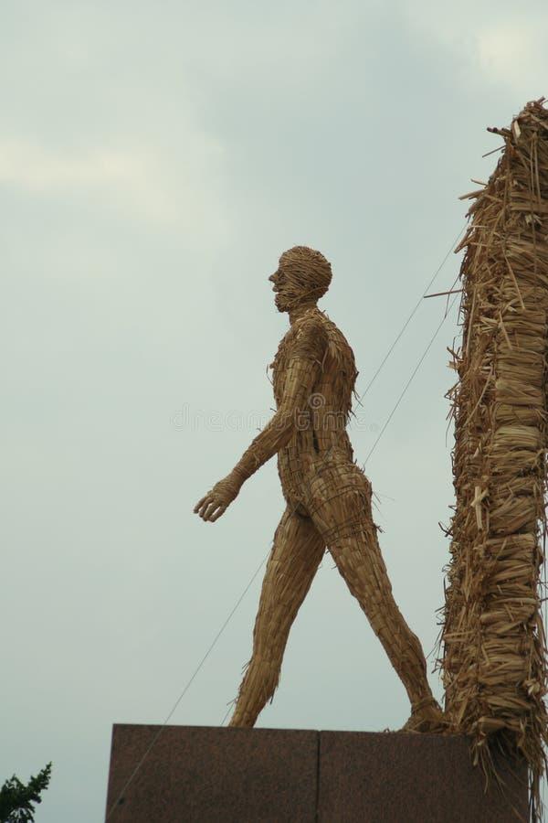 Статуя соломенного чучела стоковые изображения