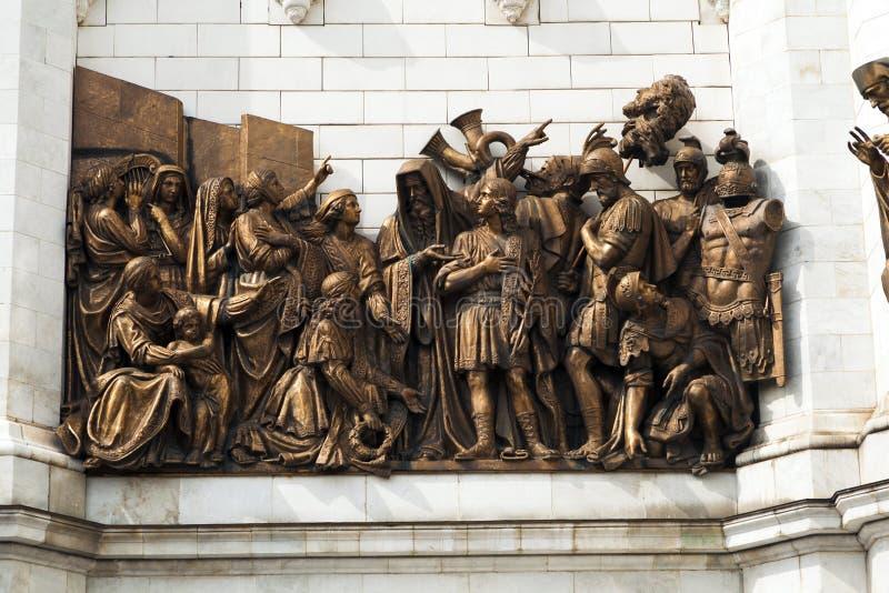 Статуя стены на соборе Христоса стоковое фото