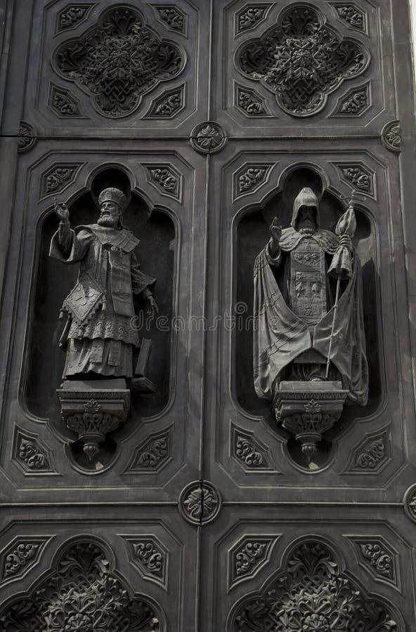 Статуя стены на соборе Христоса стоковое изображение rf