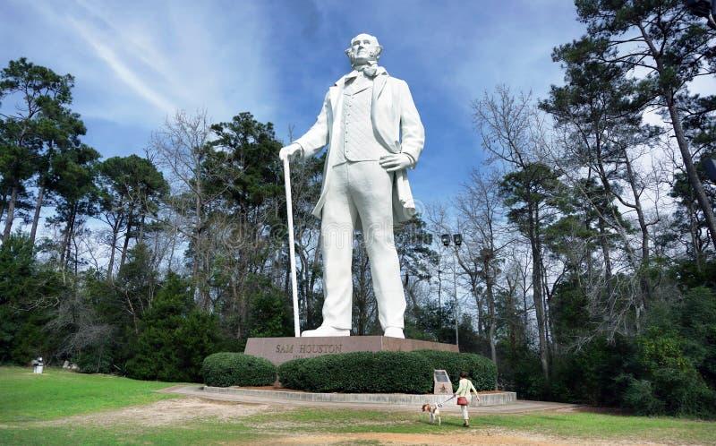 Статуя Сэм Хьюстона стоковая фотография rf